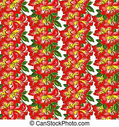 Orchid Flower Wallpaper Pattern