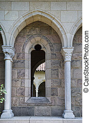 Architectural details with arch