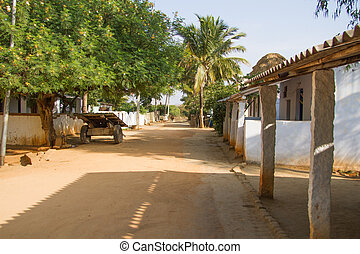 Indian village - photo of a road in a n Indian village