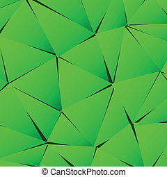 Abstract green paper triangle background