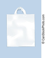 Plastic bag - White plastic bag on a perse background