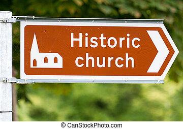 教堂, 具有歷史意義, 簽署