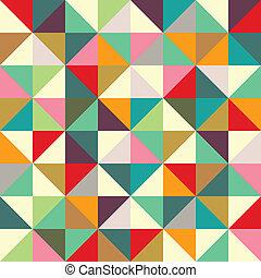 cor, triangulo, seamless, Padrão