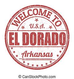 Welcome to El Dorado stamp - Welcome to El Dorado grunge...