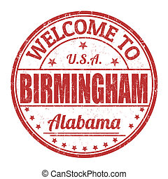 Welcome to Birmingham stamp - Welcome to Birmingham grunge...
