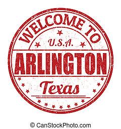 Welcome to Arlington stamp - Welcome to Arlington grunge...