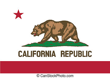 Flag of the State of California - The flag of the USA state...