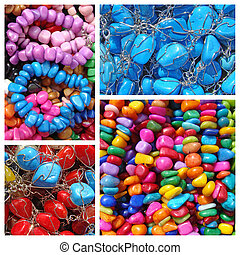 colorful semi-precious stones bijou pattern