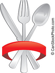 cutlery icon - illustration cutlery with copyspace in the...