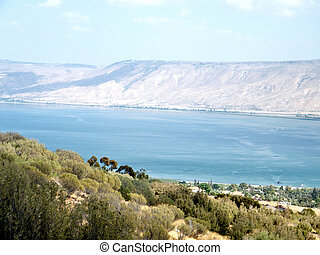 Blue Sea of ??Galilee 2010 - Blue Sea of ??Galilee against...