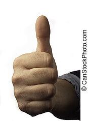 ThumbUp - Male hand with thumb up