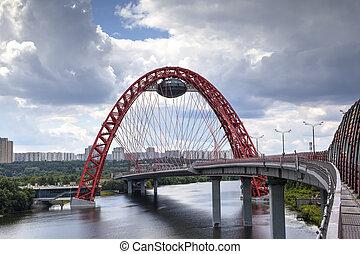 Zhivopisny (Picturesque) Bridge. Moscow, Russia