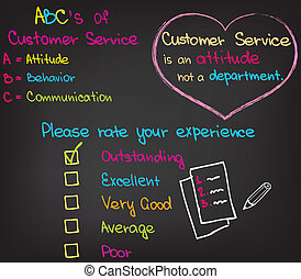 Customer service approach - Words and charts for Customer...
