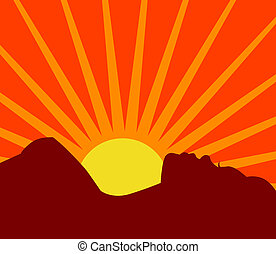 A beautiful vector silhouette - young woman taking in the...