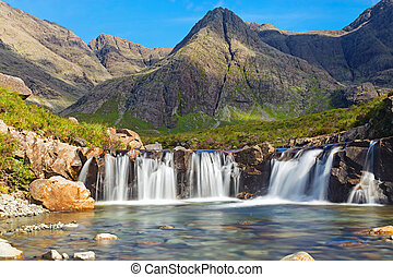 The Fairy Pools, Isle of Skye - The beautiful Fairy Pools on...