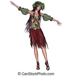 Summer Fairy - 3D digital render of a beautiful summer fairy...