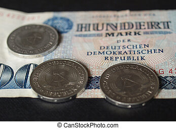DDR banknote - 100 Mark banknote from the DDR East Germany...