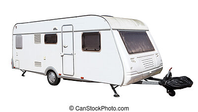 Caravan isolated over white background