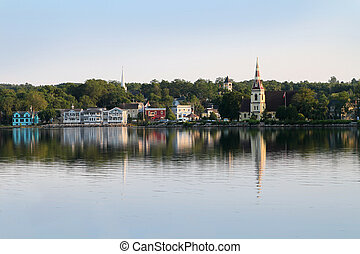Mahone Bay, Nova Scotia, Canada, a small rural coastal town...