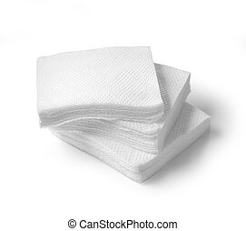 Paper napkins isolated on a white background. clipping path