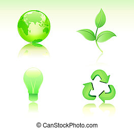 ecology icon set - illustration of Environmental...