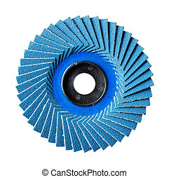Abrasive flap disc - Close up blue color abrasive flap disc...