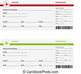 Air tickets - Blank plane tickets for business trip travel...