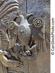 Old metal door handle