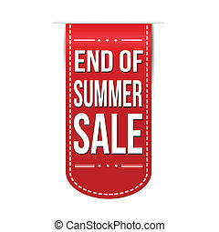 End of summer sale banner design over a white background,...