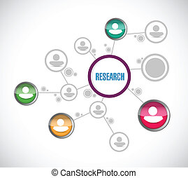 research network connection illustration design