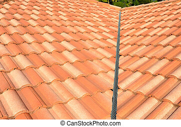 Spanish tile roof - Spanish style ceramic tile roof...
