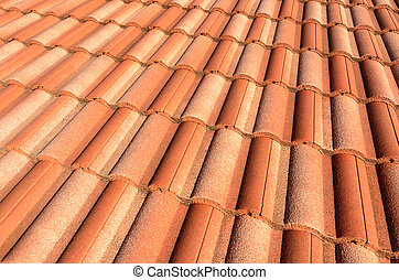Spanish tile roof - Spanish style ceramic tile roof....