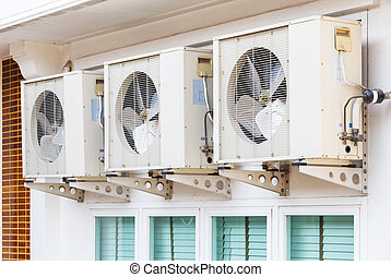 Air conditioner installation - Close up air conditioners...