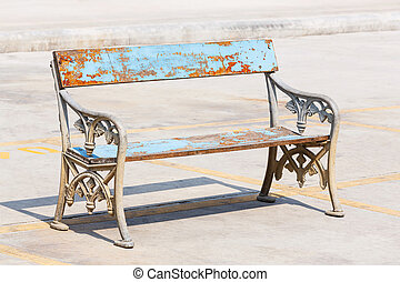 Old and weathered bench - Old and weathered wooden bench...