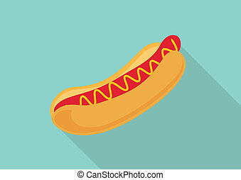 Hot dog flat design.