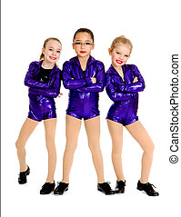 Junior Petite Tap Dance Trio - Young Tap Dancers in a...