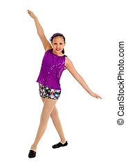 Preteen Jazz Dancer Girl