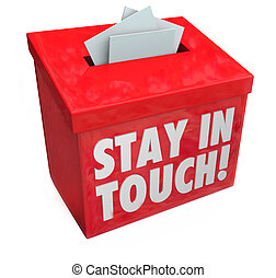 Stay in Touch Box Letters Messages Notes Communication -...
