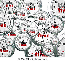 Invest Your Time Many Clocks Competing Priorities Jobs Tasks