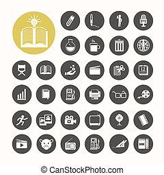 Icons set .Illustration eps10