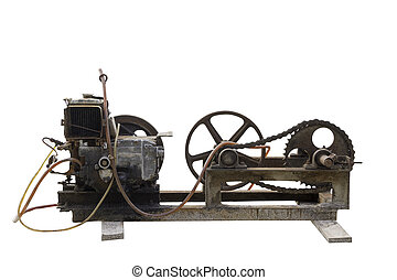 old electric motor - Electric generator is a device that...