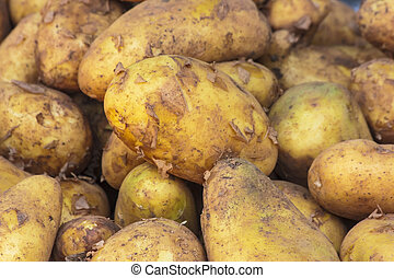 Potatoe, Potatoes raw in market for pattern texture and...