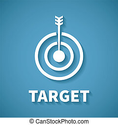 Vector concept of goal or target achievement with dart arrow