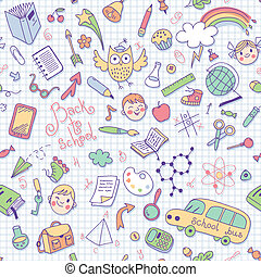 Back to school. Vector seamless pattern. Great for...
