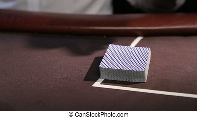 Casino Poker table Professional dolly shot