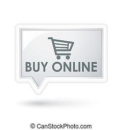 buy online word on a speech bubble