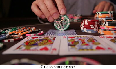 Casino Playing with chips