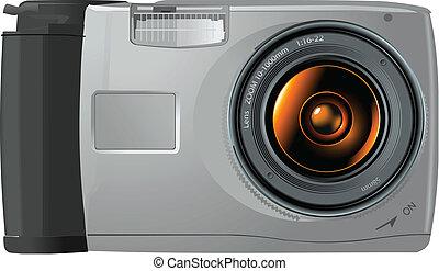 Digital Camera - An illustration of a digital camera.