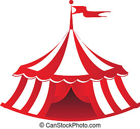 Circus Tent - An illustration of a circus tent.