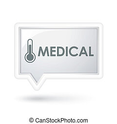 medical word on a speech bubble